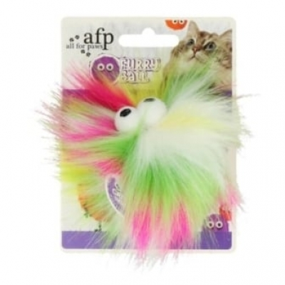 AFP Furry Fluffer Ball Yellow